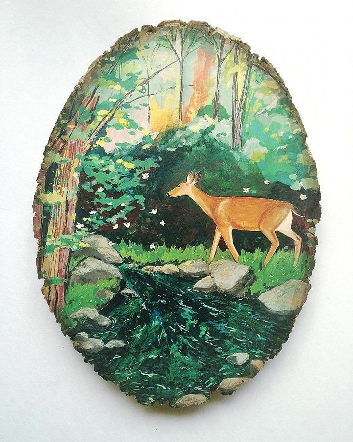 Culture N Lifestyle CNL Miniature Oil Landscape