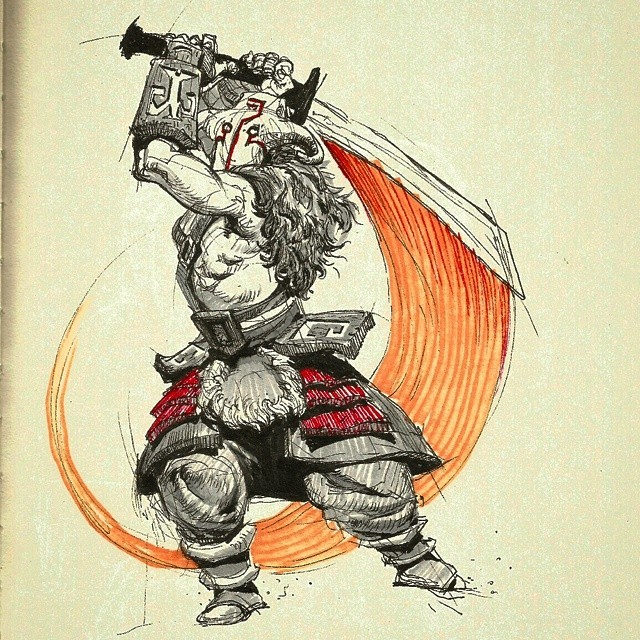 PKMIKE Todays Dota2 Sketch Is Juggernaut Or Yurnero I