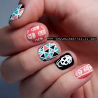 getnail-d: Girly Skull Nails. | fuck yeah nail art!