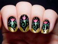 Anna Inspired Frozen Nail Art - Chalkboard Nails