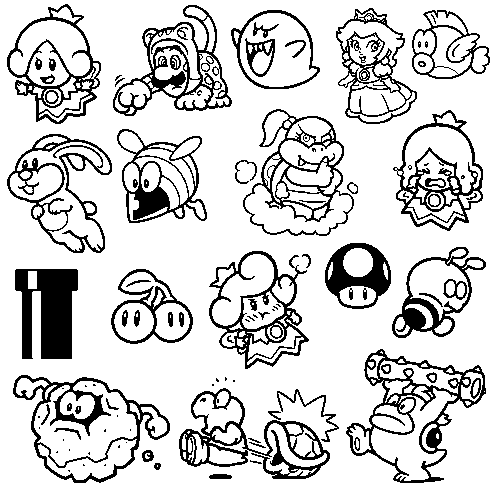 Champion ZERBE! • suppermariobroth: All the stamps from