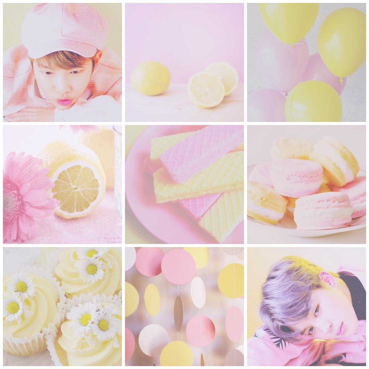 BTS Moodboards  Pink and yellow pastel minjoonnammin