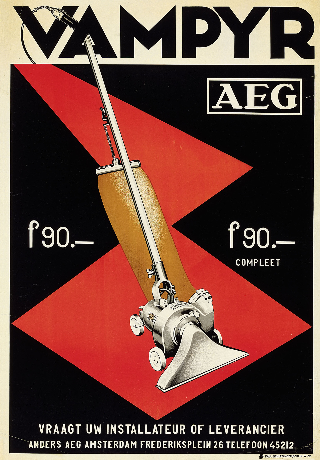 Design is fine  AEG poster for Vampyr vacuum cleaner