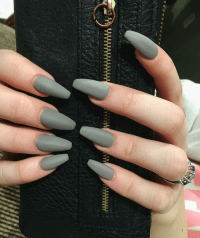 matte acrylic nails | Tumblr