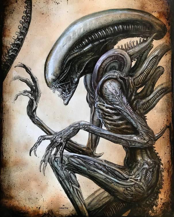redskullspage Alien Xenomorph by N C Winters… – Glamrock