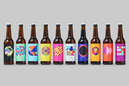 """tumblr_p2gajza2dS1r5vojso4_500 Packaging Design for Halo Brewery by way of Underline Studio""""Halo is an... Design"""