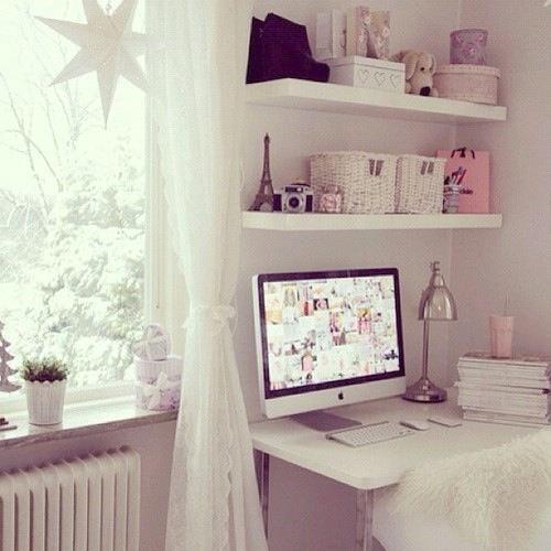 pink bedroom on Tumblr