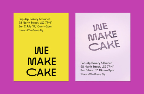 """tumblr_p2n0vyuqDY1r5vojso7_500 Emblem Id for We Make Cake by way of Saul Studio""""We Make Cake are... Design"""