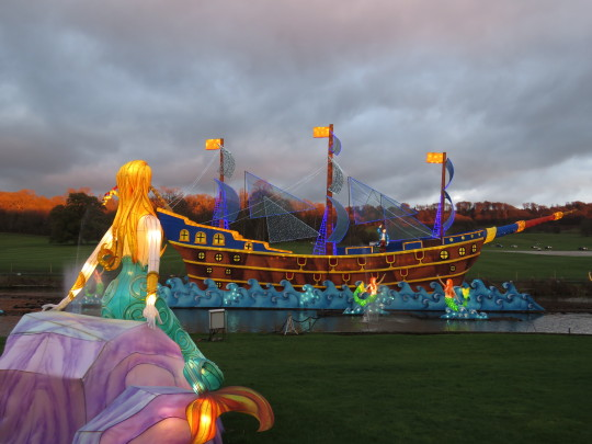 Longleat prepares for Christmas with Chinese lanterns showing the Little Mermaid at the Festival of Light.