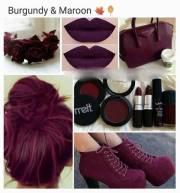 maroon hair color