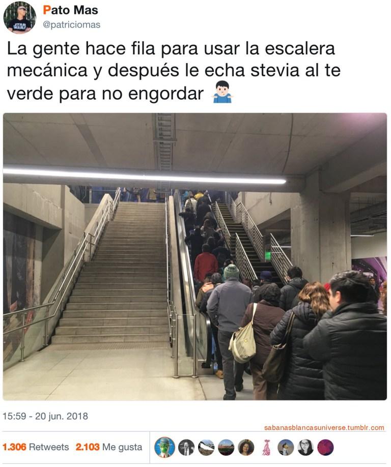 Las escaleras son el mal