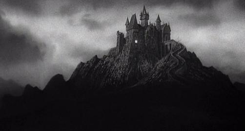 O castelo de Frankenstein do filme de 1931.