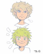 anime curly hair