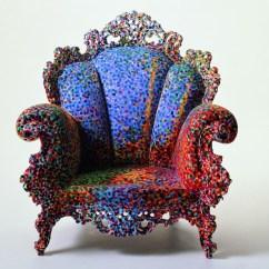 Blue Floral Chair Folding Rocker Lawn Design Is Fine. — Alessandro Mendini, Proust Chair, Poltrona Di...