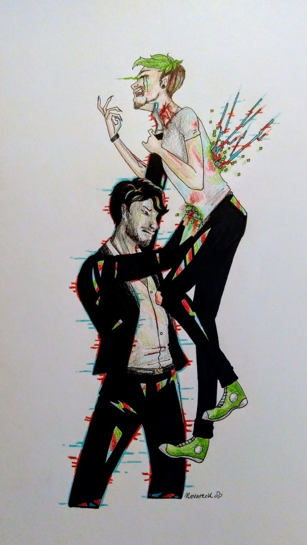 Darkiplier X Antisepticeye Inappropriate - Year of Clean Water