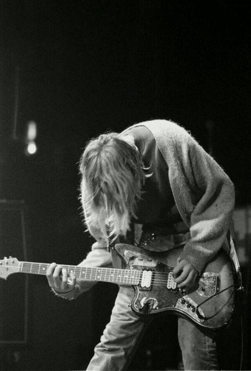 Peace Black Wallpaper Kurt Cobain Playing Guitar Tumblr