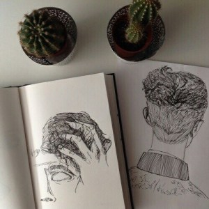 grunge drawing cactus doodles indie aesthetic favim dark outfit drawings pale dessin hands weheartit soft sketchbook heart friends notes guillermo