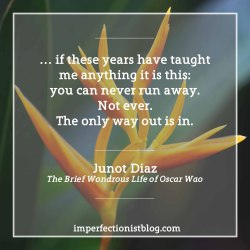 """#298 - Happy birthday to Junot Diaz! """"… if these years have taught me anything it is this: you can never run away. Not ever. The only way out is in."""" (from The Brief Wondrous Life of Oscar Wao)"""