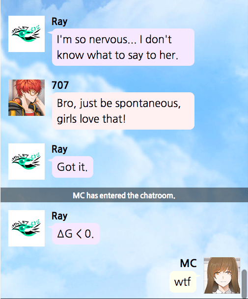 Ray Mystic Messenger Quotes
