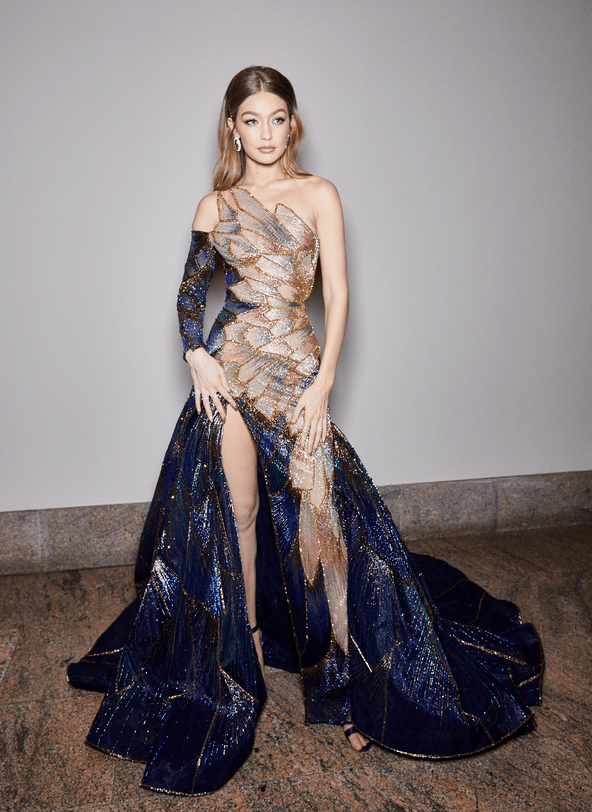 Gigi Hadid attends the Heavenly Bodies: Fashion & The Catholic Imagination Costume Institute Gala at The Metropolitan Museum of Art on May 7, 2018 in New York City.