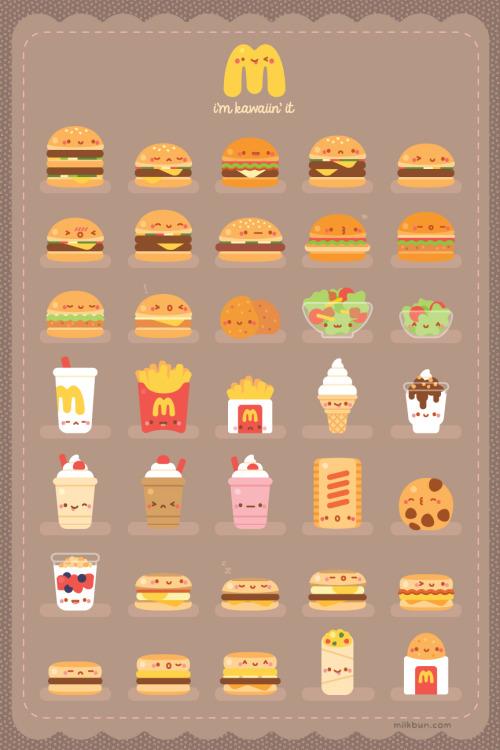 Cute Hamburger Wallpaper Kawaii Fries Tumblr