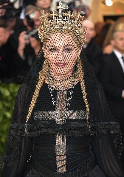 Madonna attends the 'Heavenly Bodies: Fashion & The Catholic Imagination' Costume Institute Gala at The Metropolitan Museum of Art in New York City (May 7, 2018).