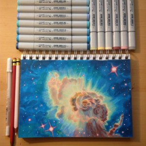 marker copic drawings space easy markers drawing effect nebula many simple tutorial been durr nuri walkthrough read
