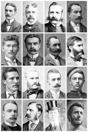 victorian men hairstyles & facial