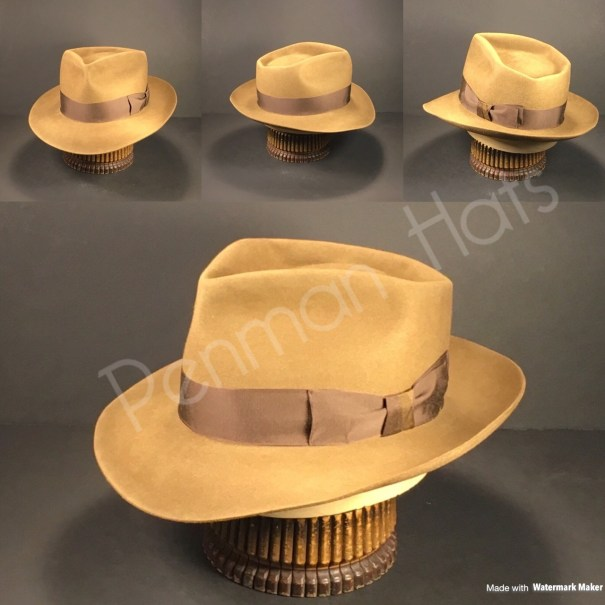 74fab10cc3f5f Just finished this whiskey colored 6 point diamond crease. Topped off with  vintage Rust grosgrain ribbon.  penmanhats  OnlyPenman