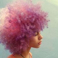 colored curly hair | Tumblr