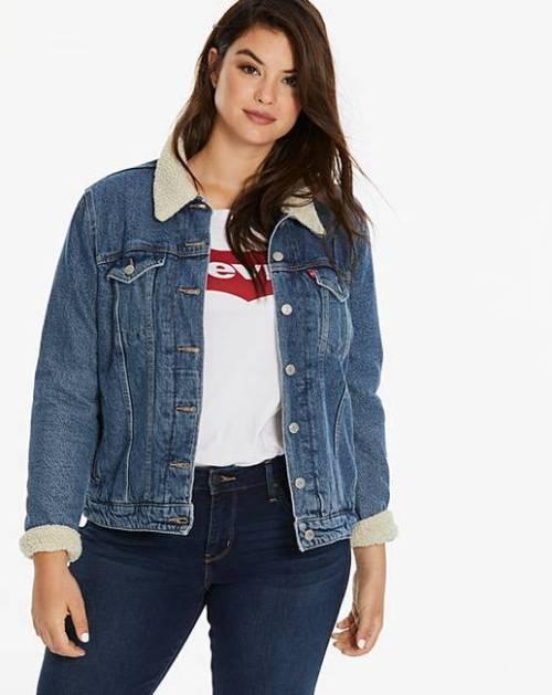 levis denim jacket, Girly Grunge