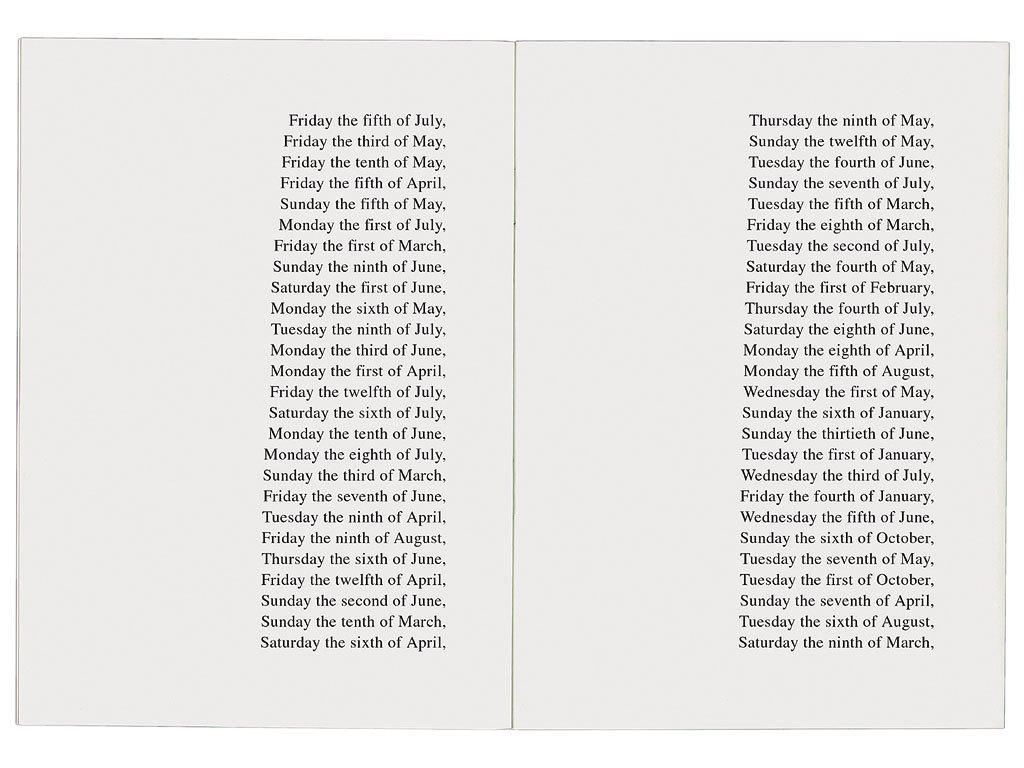 visual-poetry: »the 365 days of 1991 classified