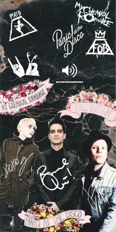 Fall Out Boy Wallpaper Mania Emo Trinity Lockscreen Tumblr