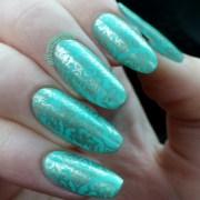 teal nail design