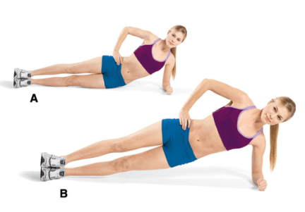 Image result for Side Plank Dips :