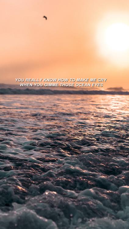 ocean eyes lyrics  Tumblr