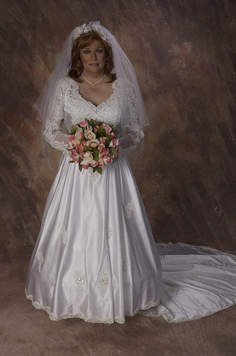 This beautiful bridal crossdresser is Miss Robyn  The