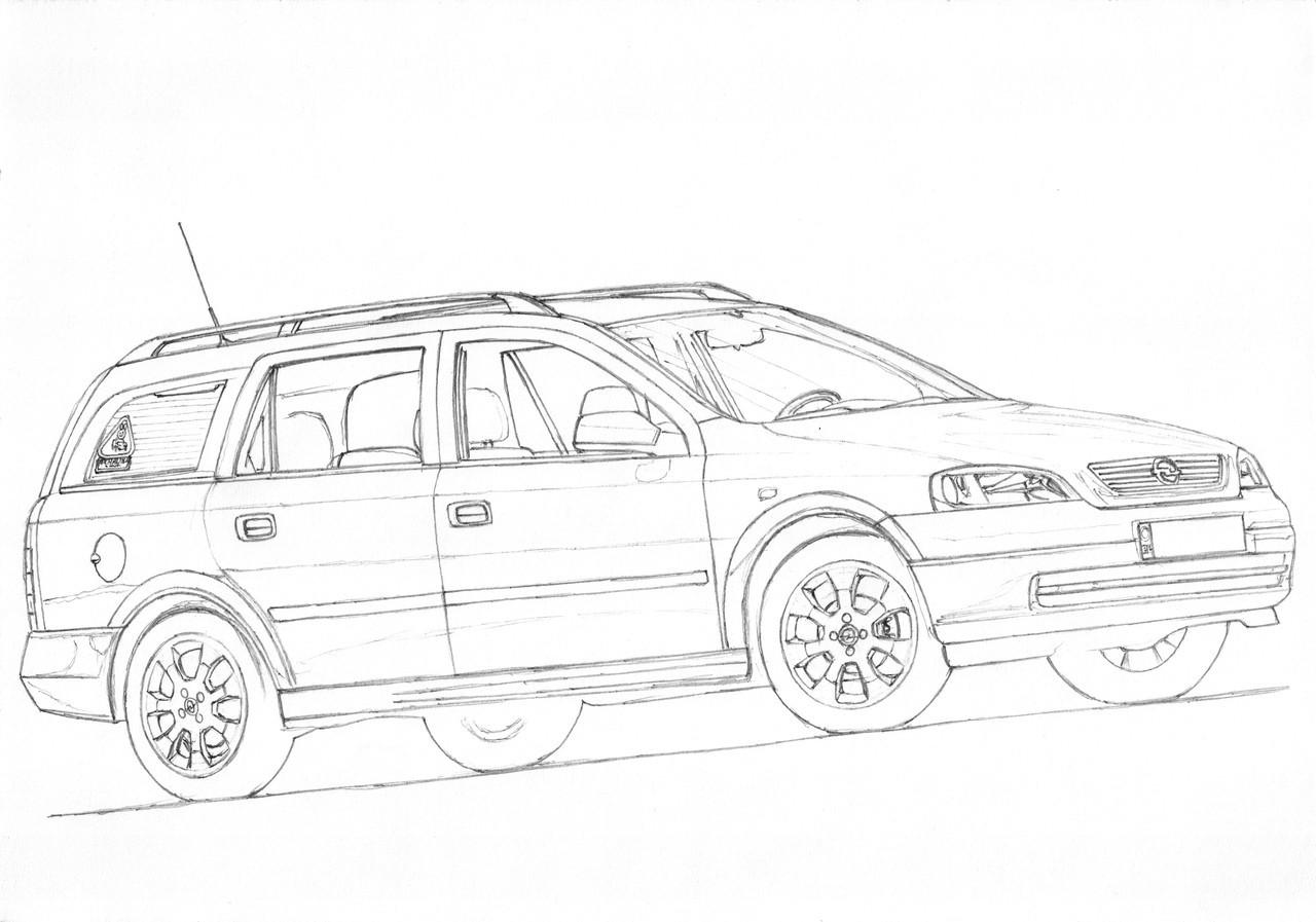 Paper Garage Car Drawings