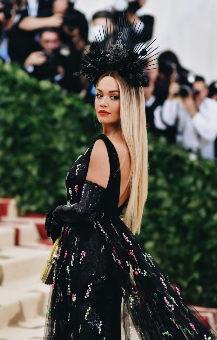 Rita Ora attends the Heavenly Bodies: Fashion & The Catholic Imagination Costume Institute Gala at The Metropolitan Museum of Art on May 7, 2018 in New York City.