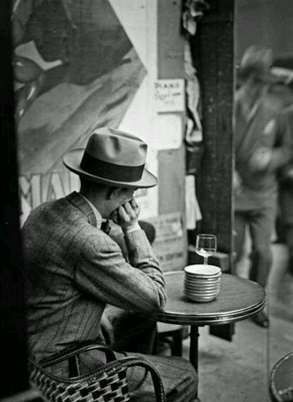 """the-night-picture-collector: """"""""André Kertész, Terrasse de Café, Paris, 1928 """" """""""