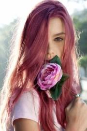 dark pink hair