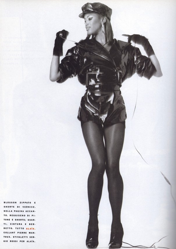 4753d0d1658 Naomi Campnell in Azzedine Alaia shot by Steven Meisel for Vogue ...