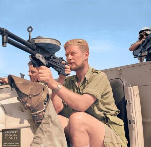 768d2aa368587 Captain Nick Wilder of the LRDG poses with a… – History