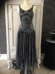 witch clothing mori dark forest gothic clothes rags dress raw dk