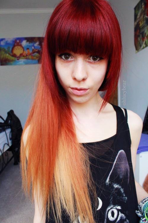 Dip Dyed Hair On Tumblr