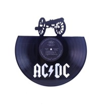 In one ear...  AC/DC Vinyl Record Silhouette Wall Art