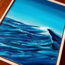 Since fancy new frames have felt set this piece off to a tee! This beauty will be for sale in November when I'll be exhibiting him and a stack of paintings at a local restaurant. Pumped! #oceanart #seascapes #newart .............#ocean #perthscene #abstractpainting #thesea #abstracts #creative #abstracted #abstract_buff #abstractobsession #art #abstract #artistsofinstagram #abstraction #abstractexpressionism #abstractarts #abstracters_anonymous #prilaga #waveart #abstractarchitecture #abstractartist #abstractart #perthart #australianartist (at Gypsy Tapas House)