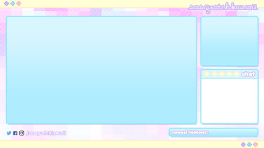Overlays Cute Twitch Obs