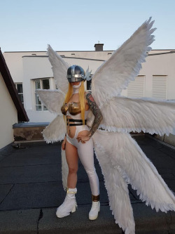 hotcosplaychicks:  Angewomon by genesis-cosplay  Check out http://hotcosplaychicks.tumblr.com for more awesome cosplayWe're on Facebook!https://www.facebook.com/hotcosplaychicks