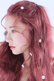 ulzzang with pink hair